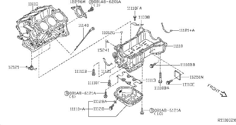 Nissan Maxima Bolt  Component  Assembly  Cylinder